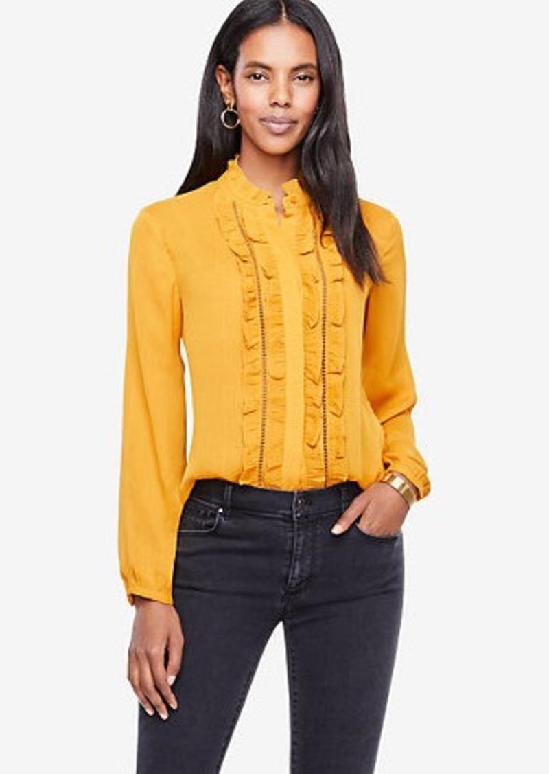 5a9eae5c6 Ann Taylor Ruffled Button Down Blouse | Dress Shirts