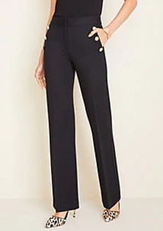 Ann Taylor Sailor Ponte Flare Trousers