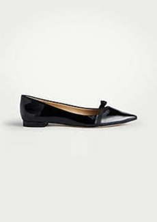 Ann Taylor Sammy Bow Patent Leather Flats