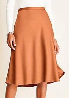 Ann Taylor Satin Slip Skirt