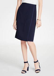 Ann Taylor Satin Trim Wrap Pencil Skirt