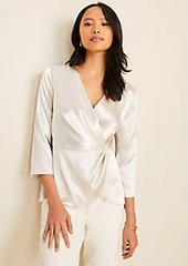 Ann Taylor Satin Wrap Top