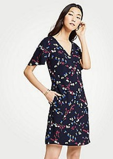 Ann Taylor Savannah Floral Lace Pocket T-Shirt Dress