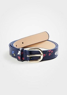 Ann Taylor Savannah Floral Leather Belt