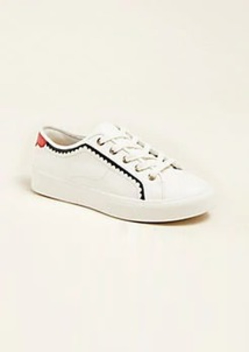 Ann Taylor Savannah Leather Lace Up Sneakers