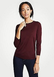 Ann Taylor Scallop Crew Neck Sweater