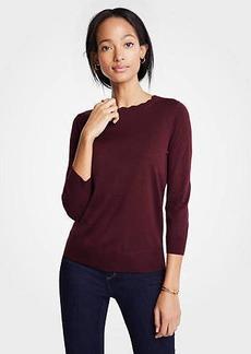Ann Taylor Scallop Crew Neck Sweater