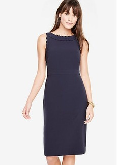 Scallop Trim Sheath Dress