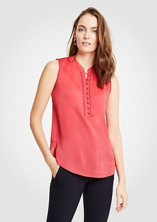 Ann Taylor Scallop Trim Shell