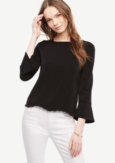 Scalloped Crepe Top