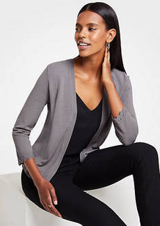 Ann Taylor Scalloped Cuff Open Cardigan