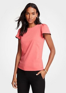 Ann Taylor Scalloped Cuff Top