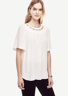 Scalloped Cutout Tee