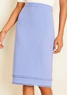 Ann Taylor Scalloped Doubleweave Pencil Skirt
