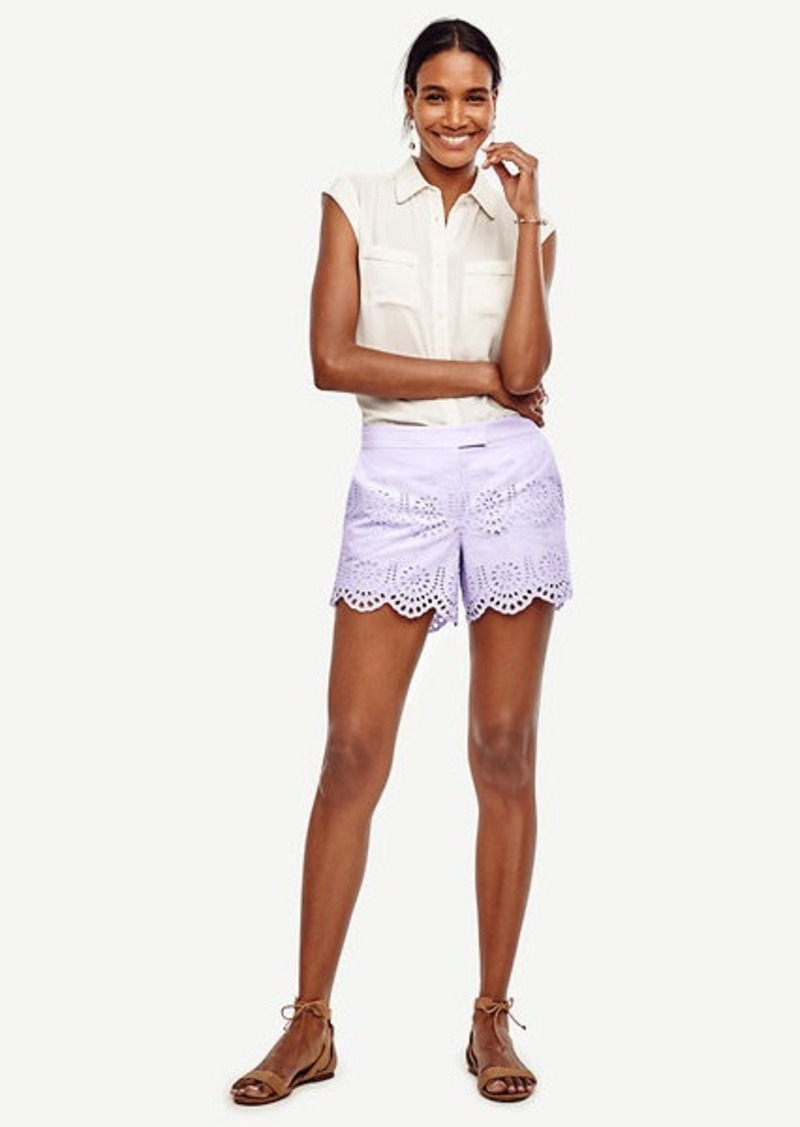Ann Taylor Scalloped Eyelet City Shorts