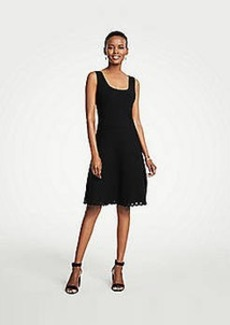 Ann Taylor Scalloped Knit Flare Dress