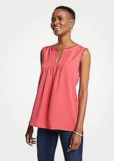 Ann Taylor Scalloped Pintucked Shell