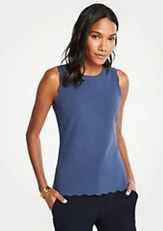 Ann Taylor Scalloped Sweater Shell