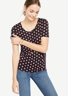 Scoop Neck Linen Sunday Tee - In Circles