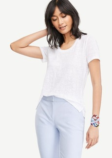 Scoop Neck Linen Sunday Tee