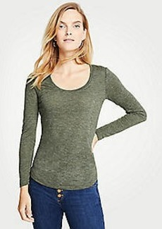 Ann Taylor Scoop Neck Long Sleeve Tee