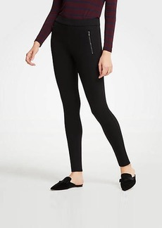 Ann Taylor Scuba Zip Pocket Leggings