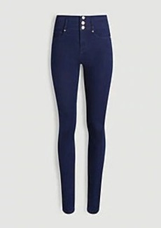 Ann Taylor Sculpting Pocket High Rise Skinny Jeans in Dark Rinse Wash