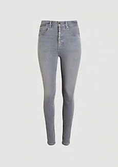 Ann Taylor Sculpting Pocket High Rise Skinny Jeans in Silver Grey Wash
