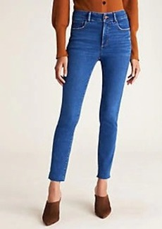 Ann Taylor Curvy Sculpting Pocket Mid Rise Skinny Jeans in Mid Stone Wash