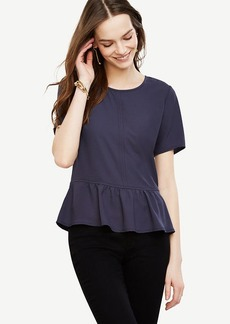 Seamed Matte Jersey Peplum Top