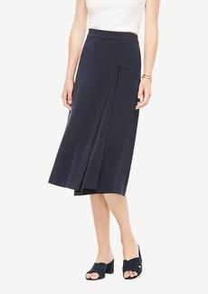 Ann Taylor Seamed Midi Skirt