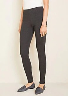 Ann Taylor Seamed Ponte Side Zip Leggings