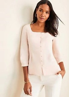 Ann Taylor Seamed Square Neck Top