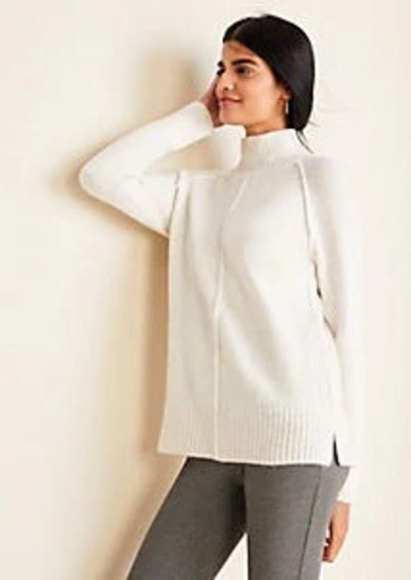 Ann Taylor Seamed Turtleneck Tunic Sweater