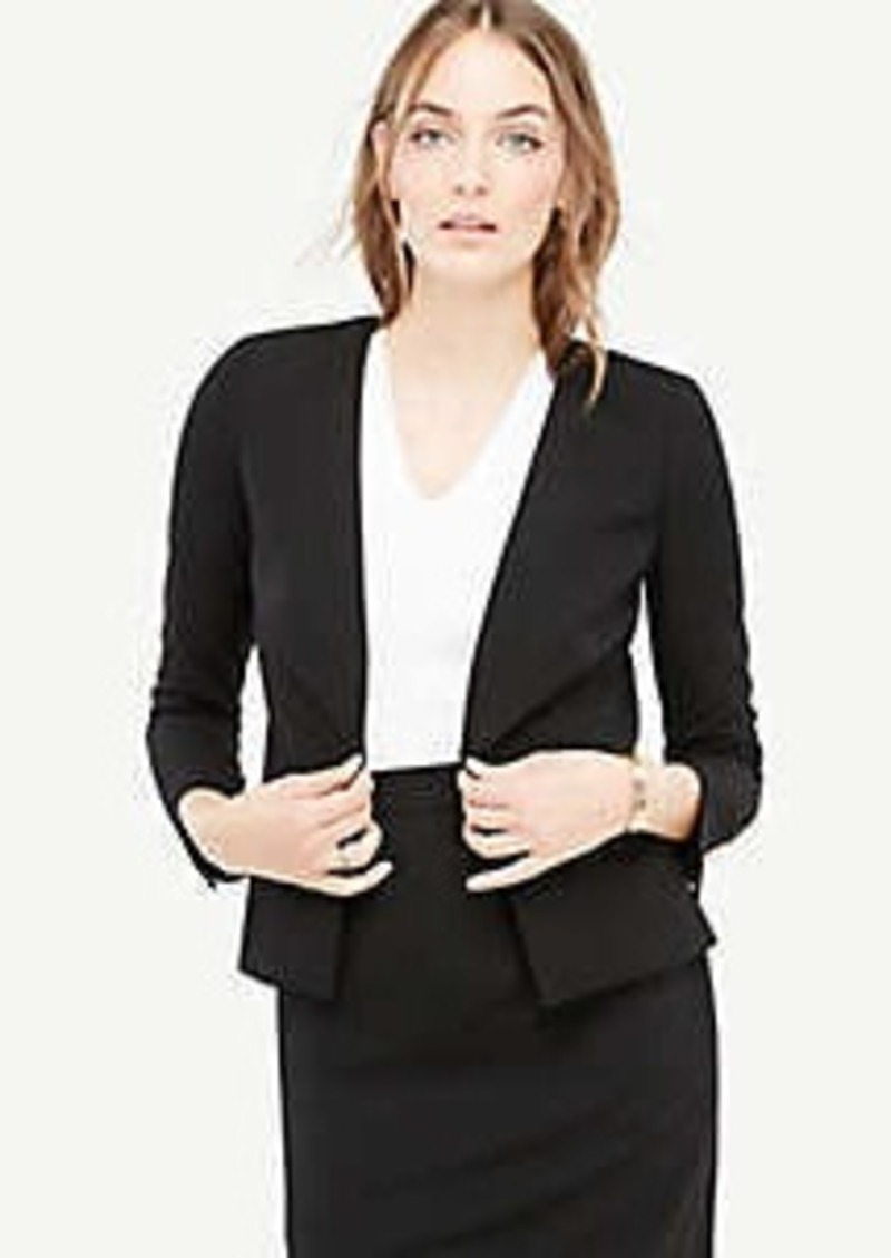 4dd6b579d Ann Taylor Seasonless Stretch Back Peplum Jacket | Outerwear