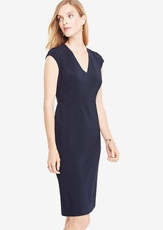Ann Taylor Seasonless Stretch Cap Sleeve Sheath Dress