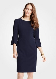 Ann Taylor Seasonless Stretch Fluted Sleeve Sheath Dress