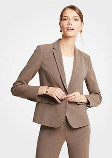 Ann Taylor Seasonless Stretch One Button Jacket