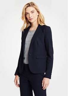 Ann Taylor Seasonless Stretch One Button Perfect Blazer