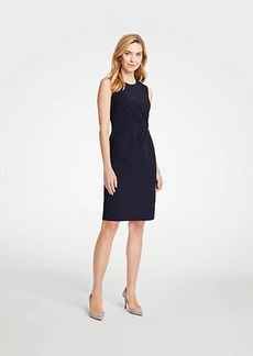 Ann Taylor Seasonless Stretch Ruched Sheath Dress