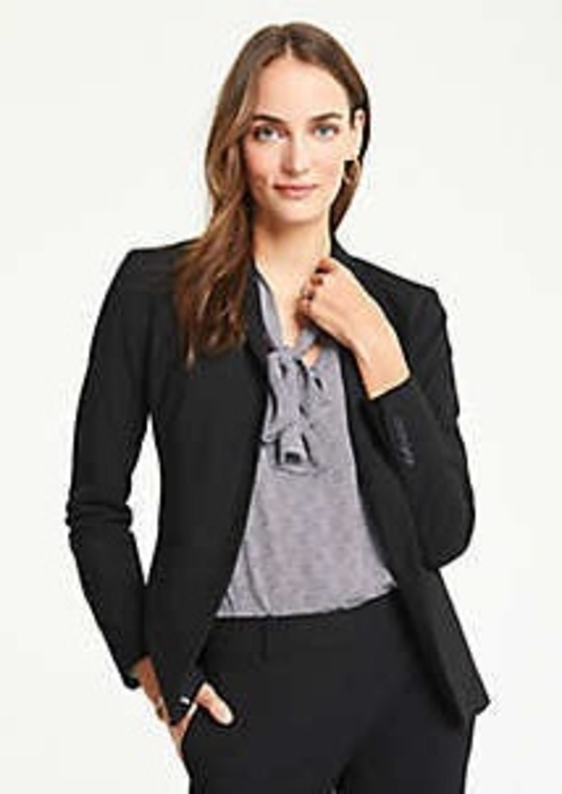 Ann Taylor The Long Two-Button Blazer in Seasonless Stretch