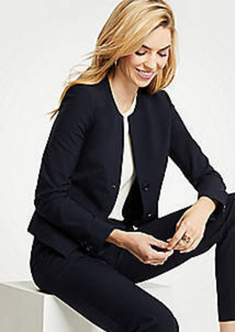 Ann Taylor Seasonless Stretch Two Button Jacket