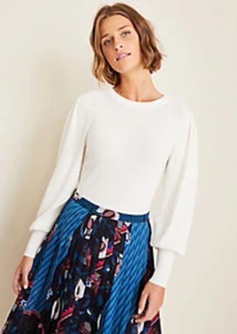 Ann Taylor Seasonless Yarn Balloon Sleeve Sweater