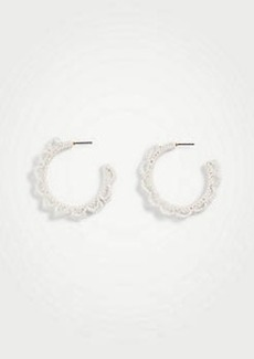 Ann Taylor Seed Bead Hoop Earrings