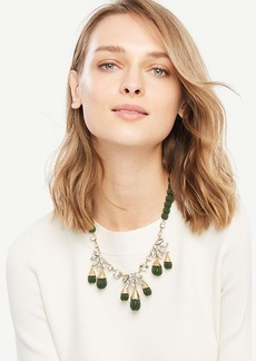Ann Taylor Seed Bead Statement Necklace