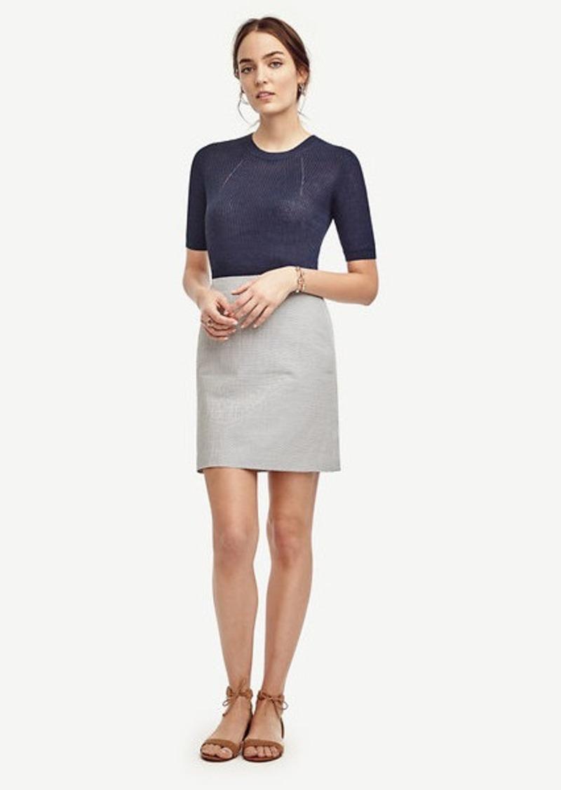Ann Taylor Seersucker Skirt