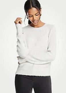 Ann Taylor Sequin Balloon Sleeve Sweater