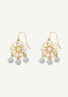 Ann Taylor Sequin Crystal Flower Earrings