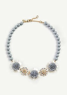 Ann Taylor Sequin Crystal Flower Necklace