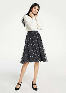 Ann Taylor Sequin Dot Tulle Skirt